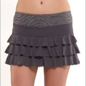 Lululemon Gray Run Weightless Ruffle Skirt